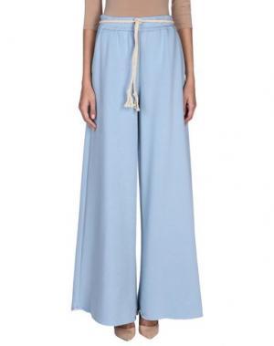 Повседневные брюки NINEMINUTES. Цвет: небесно-голубой