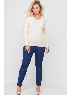 Пуловер Limonti. Цвет: молочный