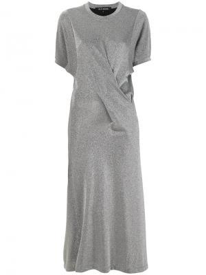 Платье-футболка металлик Ter Et Bantine. Цвет: металлический