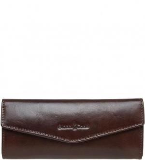 Кожаный очешник с застежкой на магнитную кнопку Gianni Conti. Цвет: коричневый