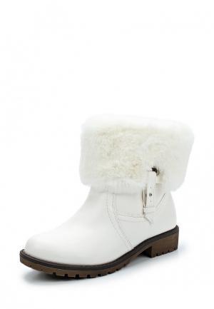 Полусапоги Style Shoes. Цвет: белый