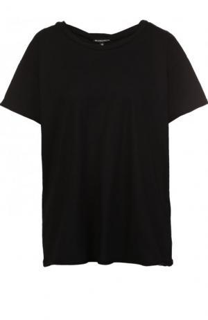 Хлопковая футболка свободного кроя с круглым вырезом Ann Demeulemeester. Цвет: черный