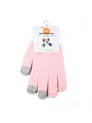 Перчатки для сенсорных экранов Liberty Project. Цвет: розовый
