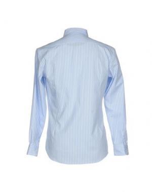 Pубашка GREY DANIELE ALESSANDRINI. Цвет: небесно-голубой