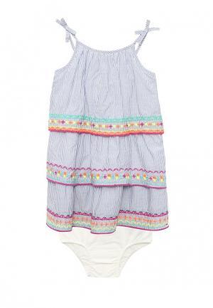 Комплект платье и трусы Gap. Цвет: голубой