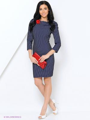Платье LILA ROSE. Цвет: синий, белый