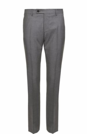 Шерстяные брюки прямого кроя Berwich. Цвет: темно-серый