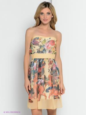 Платье ZAYKINS. Цвет: желтый, красный