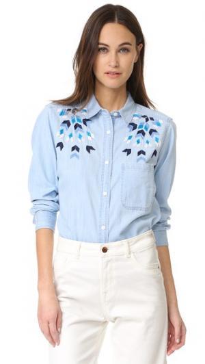 Рубашка на пуговицах Brett RAILS. Цвет: геометрическая вышивка