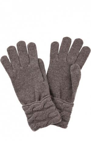 Вязаные перчатки из кашемира Kashja` Cashmere. Цвет: светло-коричневый