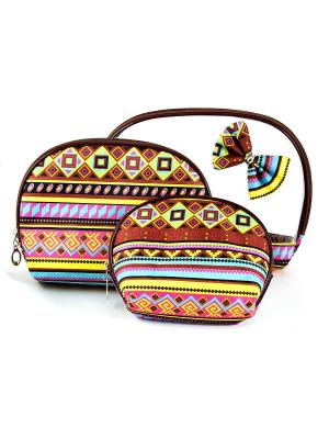 Набор органайзеров для путешествий из 3шт. Русские подарки. Цвет: коричневый, прозрачный