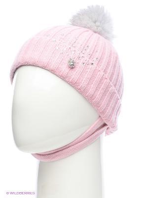 Шапка ELFE. Цвет: бледно-розовый