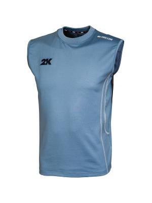 Майка тренировочная 2K. Цвет: серо-голубой