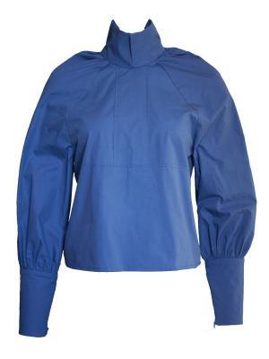 Блузка Wooly's. Цвет: темно-синий