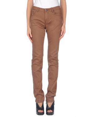 Джинсовые брюки CUSTOLINE. Цвет: коричневый