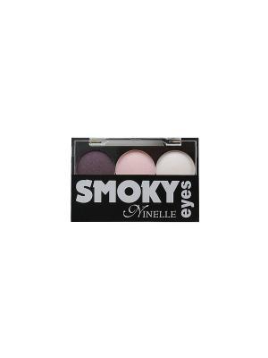 Тени для век Smoky eyes, тон №24 Ninelle. Цвет: фиолетовый, розовый, белый