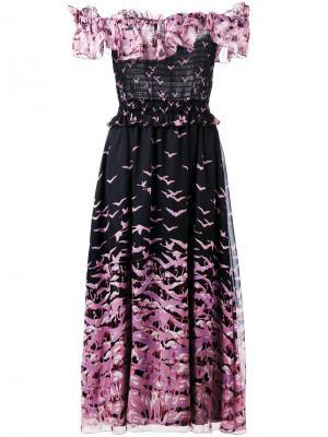 Платье с оборкой Giamba. Цвет: чёрный