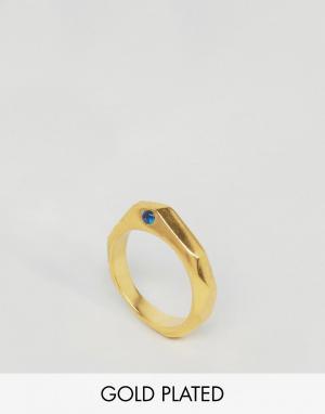 Ottoman Hands Шестигранное кольцо с камнем. Цвет: золотой