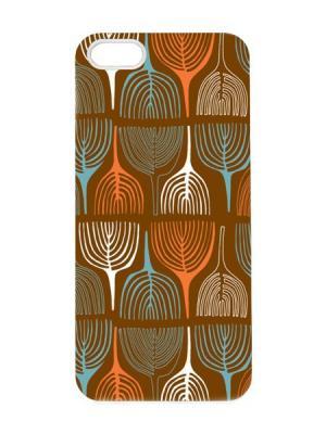 Чехол для iPhone 5/5s Горчичный принт Арт. IP5-055 Chocopony. Цвет: коричневый, голубой, оранжевый, белый