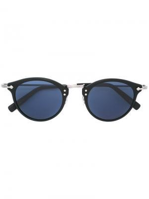 Солнцезащитные очки в круглой оправе Masunaga. Цвет: чёрный