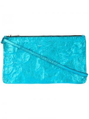 Zipped clutch Zilla. Цвет: синий