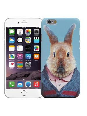 Чехол для iPhone 6/6s Кролик в костюме Kawaii Factory. Цвет: синий, голубой, светло-голубой