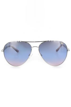 Очки солнцезащитные DVF. Цвет: голубой