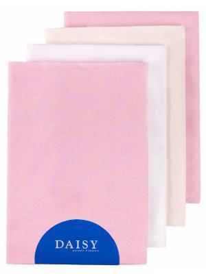 Пеленка, 4 шт. DAISY. Цвет: бежевый, белый, розовый