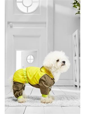 Дождевик для собак Nothing but Love. Цвет: желтый, коричневый
