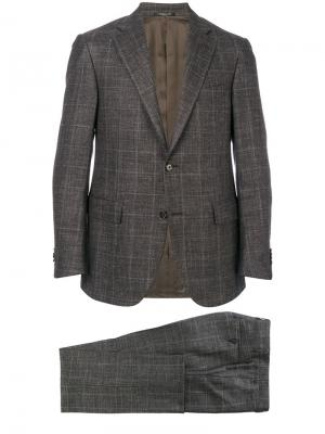 Plaid two-piece suit Corneliani. Цвет: серый