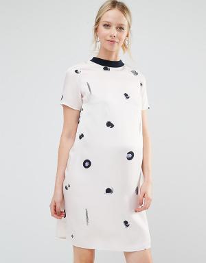 ASOS Maternity Платье-футболка для беременных. Цвет: мульти