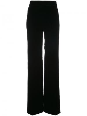 Бархатные брюки палаццо Marchesa. Цвет: чёрный