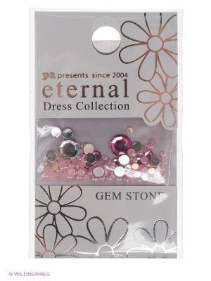 Стразы-камушки для ногтей Прозрачно - розовый микс ETERNAL Dress Collection Gem Stone Rabyrinth PA presents since 2004. Цвет: розовый