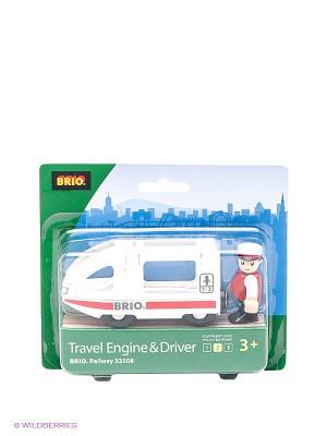 Поезд-купе с машинистом BRIO. Цвет: белый