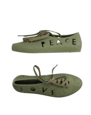 Обувь на шнурках F-TROUPE. Цвет: зеленый-милитари