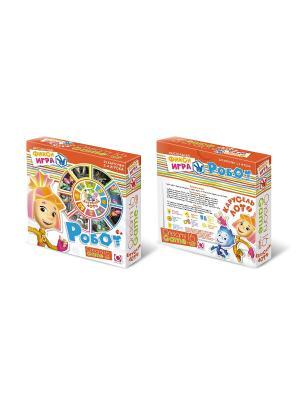 Фиксики. Настольная игра: Карусель-лото Робот. ФИКСИКИ. Цвет: оранжевый, белый, голубой