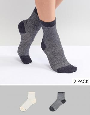 Pretty Polly 2 пары носков с металлизированной нитью. Цвет: мульти