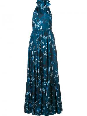 Вечернее платье Carolena Zac Posen. Цвет: синий