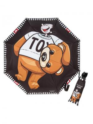 Зонт складной Moschino 7050-OCA Bear Olivia Black. Цвет: черный, белый, светло-коричневый