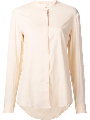 Рубашка с воротником-стойкой Lemaire. Цвет: жёлтый и оранжевый