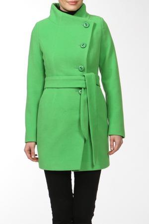 Пальто КОРУ-СТИЛЬ. Цвет: зеленый