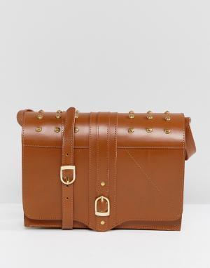 Park Lane Кожаная сумка через плечо. Цвет: рыжий