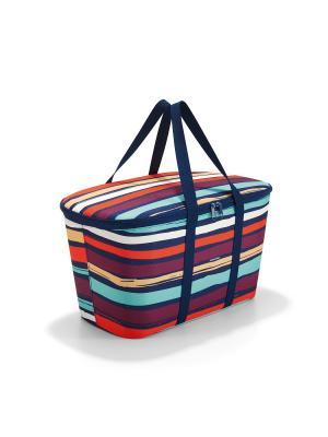 Термосумка Coolerbag artist stripes Reisenthel. Цвет: синий, оранжевый, сливовый