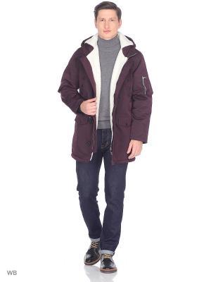 Куртка Modis. Цвет: темно-коричневый, темно-фиолетовый