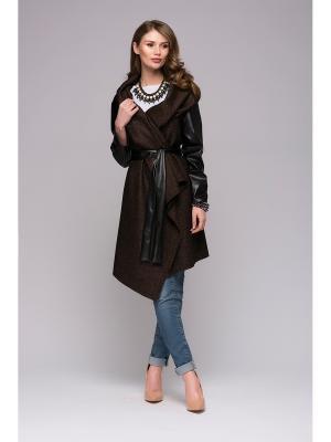 Кардиган 1001 DRESS. Цвет: черный,темно-коричневый