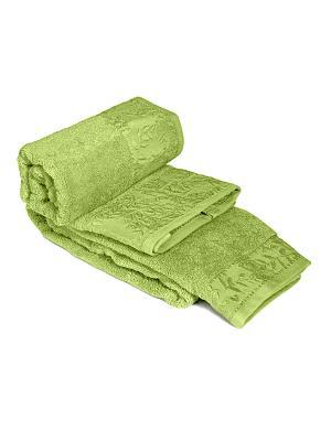 Полотенце Тет-а-Тет. Цвет: зеленый