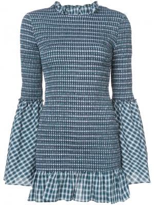 Клетчатое платье Petersyn. Цвет: синий