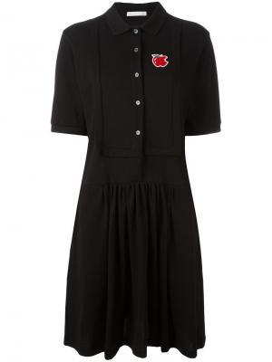Платье-рубашка с воротником-поло Peter Jensen. Цвет: чёрный
