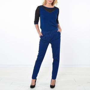 Пуловер с круглым вырезом из хлопка KAPORAL 5. Цвет: синий морской