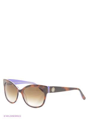 Солнцезащитные очки Juicy Couture. Цвет: коричневый, сиреневый